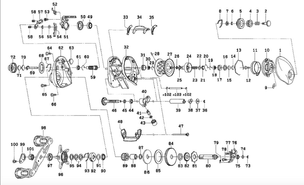 ダイワ SS AIR 8.1L メンテナンス・オーバーホール 展開図